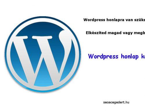 WordPress honlap készítése