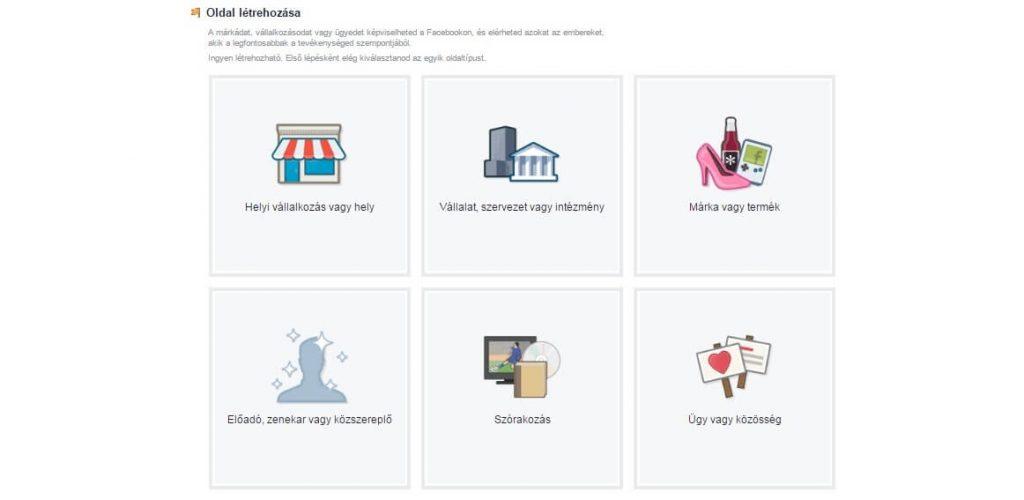 facebook oldal menedzselése -létrehozása