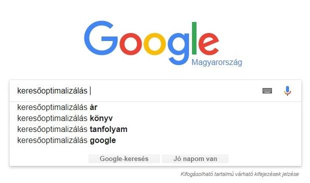google kereső sáv
